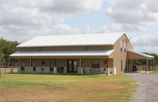 Texas barndominiums custom homes and retreats by rbs for Cheapest 2 story house to build
