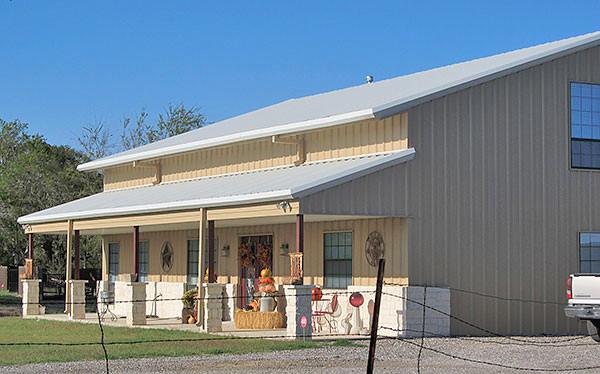 Texas barndominiums custom homes and retreats by rbs for Metal houses texas