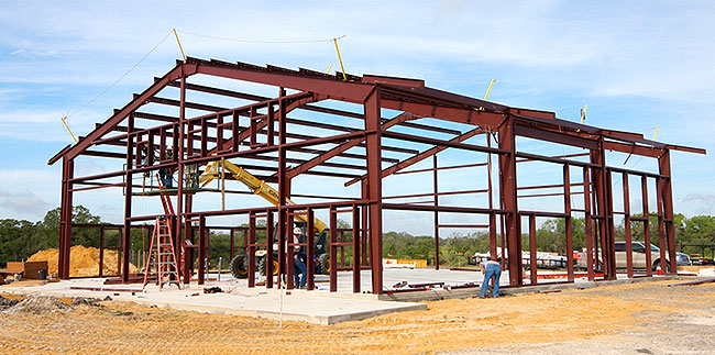Large Metal Building Construction