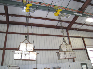 overhead cranes metal buildings rbs